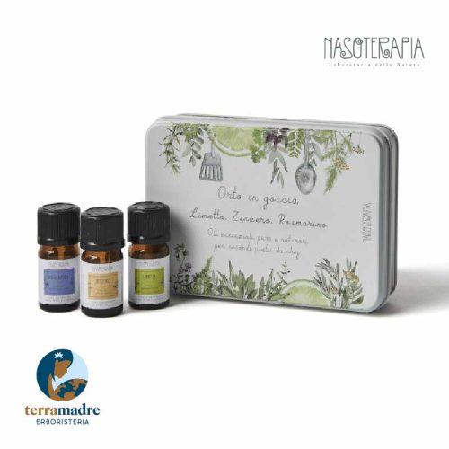 Nasoterapia - Cofanetto Orto In Goccia - Oli Essenziali Secondi Piatti