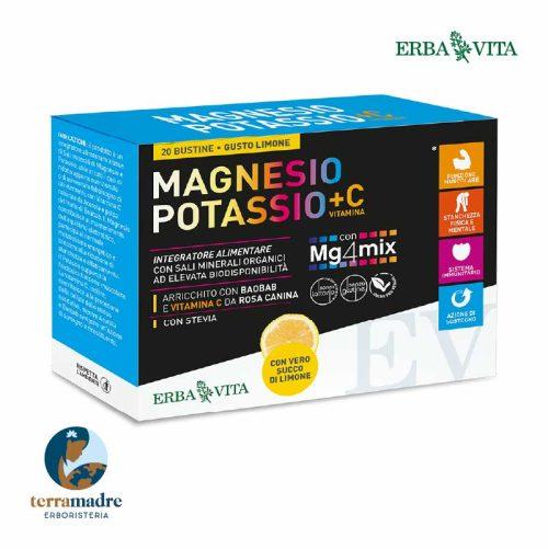 Erba Vita - Magnesio Potassio + Vitamina C - Gusto Arancia/Limone