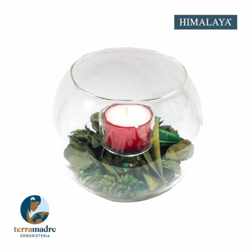 Himalaya - Centrotavola Sfera con 1 Tealight - Piccola