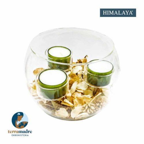 Himalaya - Centrotavola Sfera con 3 Tealight - Grande